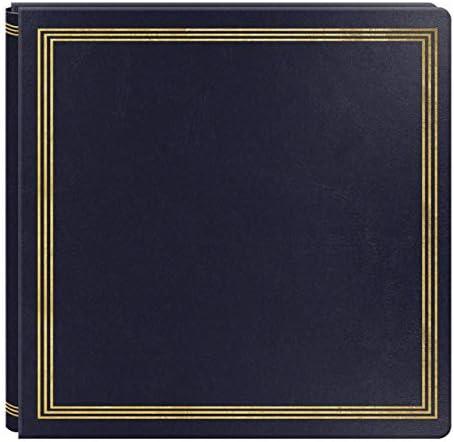Large Magnetic Page X-Pando Photo Album, Navy Blue