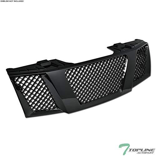 (Topline Autopart Black Mesh Front Hood Bumper Grill Grille ABS For 04-07 Nissan Titan ; 04/05-07 Armada)