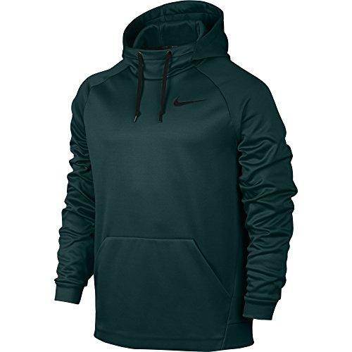 Men's Nike Therma Training Hoodie Outdoor Green/Black Size Medium