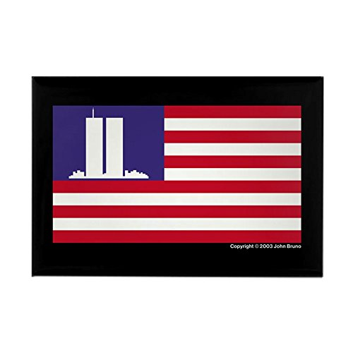 CafePress - 911 WTC Memorial Flag - Rectangle Magnet, 2