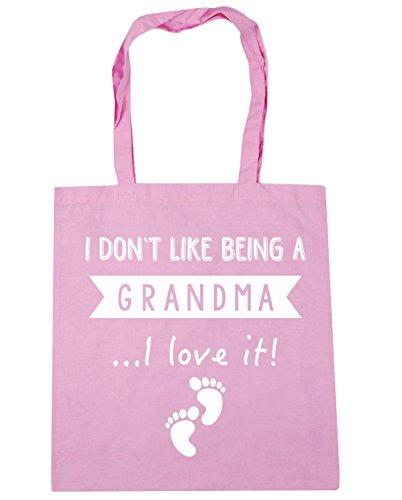 HippoWarehouse Ich Tue Nicht Like Being A Oma I Love It! Einkaufstasche Fitnessstudio Strandtasche 42cm x38cm, 10 liter - Klassisch Rosa, One size