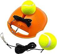 TaktZeit Tennis Trainer Self Training Rebound Baseboard Tennis Training Gear with 2 String Balls (Orange-2.0)