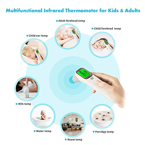 Baby Forehead and Ear Thermometer for Fever - Medical Infrared Temporal Temperature Digital Thermometer for Infant Kids Children Adults Body(No Touch Version)