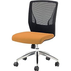 オカムラ オフィスチェア ビラージュ メッシュバック 肘なし オレンジ 8VCM1A-FHR8
