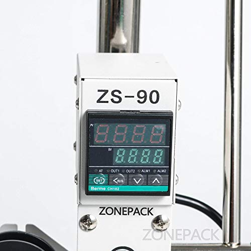 ZONEPACK 1013cm Digital Embossing Machine Hot Foil Stamping Machine Manual Tipper Stamper for PVC Leather Pu and Paper Stamping with Paper Holder and Scale by ZONEPACK (Image #5)