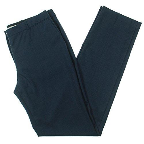 Hugo Boss BOSS Womens Tamea Wool Knit Straight Leg Pants Navy ()