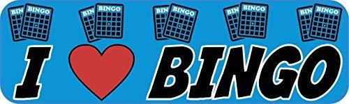 Yetta Quiller 3in x 18in I Love Bingo Heart Tin Sign Metal Sign Vehicle Sign
