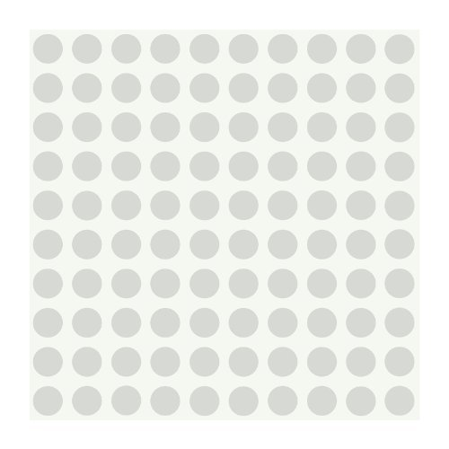 York Wallcoverings PW3949 Girl Power 2 Dots Wallpaper, Silver/White by York Wallcoverings