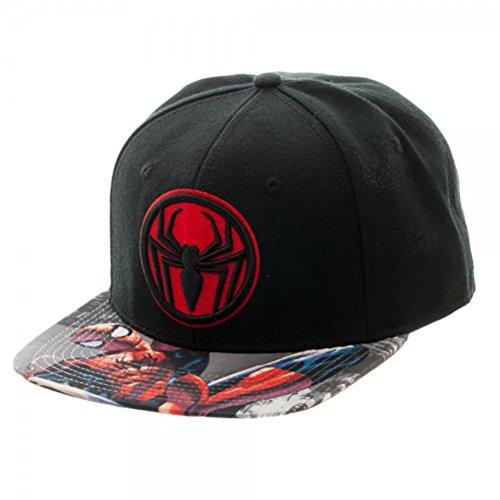Marvel Comics Spiderman Miles Morales Sublimated Bill Snapback Hat