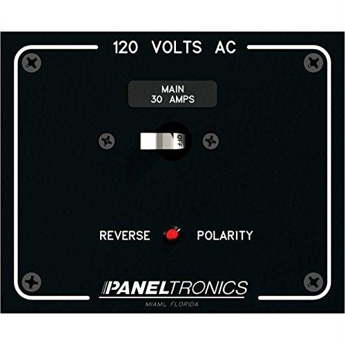 Paneltronics Standard Panel AC Main Double Pole w/30Amp CB & Reverse Polarity Indicator (Indicator Polarity)