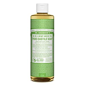 Dr Bronner Organic Green Tea Castile Liquid Soap 4...