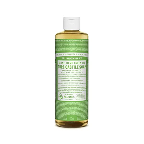 Dr Bronner Organic Green Tea Castile Liquid Soap 473 ml