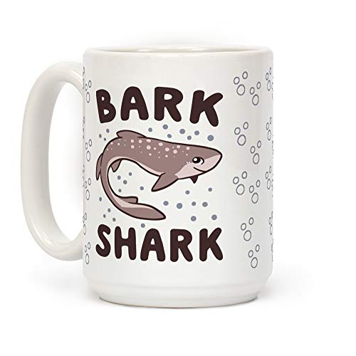 - LookHUMAN Bark Shark - Dogfish White 15 Ounce Ceramic Coffee Mug