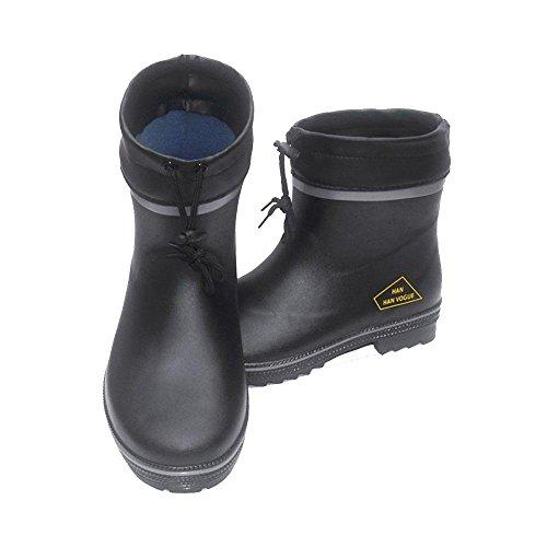 Bottes de neige dhiver pour hommes Bottes de pluie imperméables Fish Hunter caoutchouc noir Rain Shoe , B , 42
