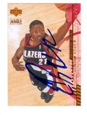 Barkley Basketball Autographed (Autograph Warehouse 43899 Erick Barkley Autographed Basketball Card Portland Trail Blazers 2001 Upper Deck No .353)
