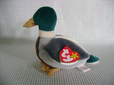(TY BEANIE BABY Mallard Drake Duck Named JAKE THE DRAKE by TY)
