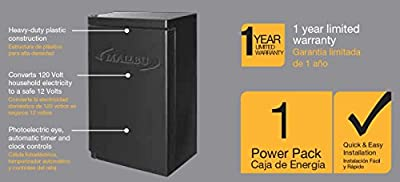Malibu Power Pack With Sensor and Weather Shield for Low Vlotage Landscape Lighting and Spotlight Outdoor Transformer 120V Input 12V Output