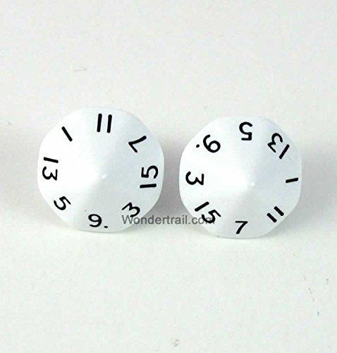 格安人気 wcxxq1601e2ホワイト不透明Dice withブラック番号d16 Aprox 8in 16 mm ( 5 mm/ ) 8in ) Pack of 2 Dice Chessex B010QI3U52, TRAMS:7fd91a42 --- martinemoeykens.com