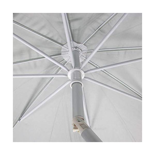 Papillon - 8042665, Ombrellone da spiaggia in alluminio, diametro 220 cm, con manici e spirale per l'ancoraggio… 2 spesavip