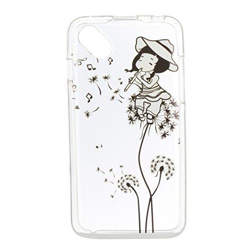 Qiaogle Teléfono Caso - Funda de TPU silicona Carcasa Case Cover para Huawei Honor 6X (5.5 Pulgadas)(2016) - HX28 / Horse HX16 / Niña flauta música