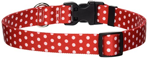 Yellow Dog Design Standard Easy-Snap Collar, New Red Polka Dot, Large 18