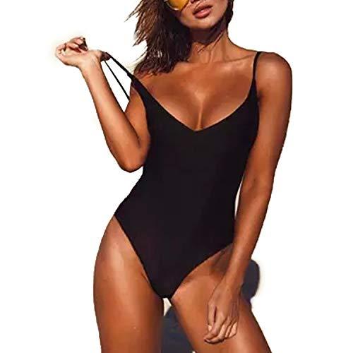 RIOJOY Women's Monokini One Piece Swimsuits Criss Cross Bandage Beachwear Padded Bra Slimmming Swimwear Bathing Suits ()