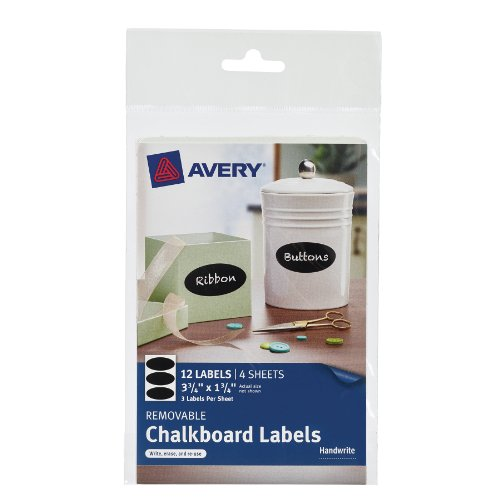 Avery Removable Chalkboard Labels 73303