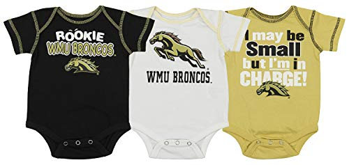Outerstuff NCAA Newborn and Infant's 3 Piece Creeper Set, Western Michigan Broncos 0-3 Months