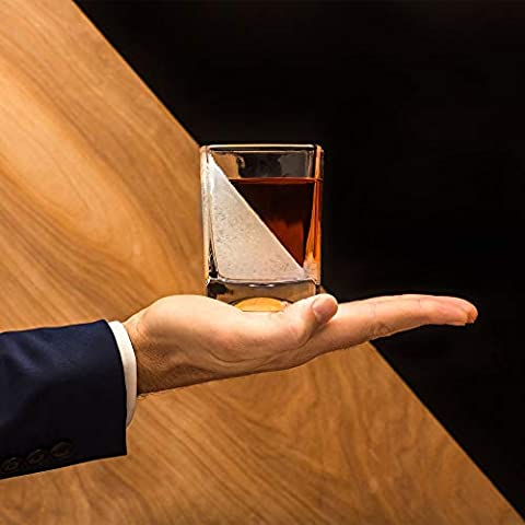 Corkcicle Whiskey Wedge (2 Double Old Fashioned Glass + 2 Silicone Ice Form)