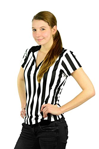 Mato & Hash Women's 1/4 Zip-Up Quarter-Zip Referee Short Sleeve Ref Tee Shirt CA1500 -