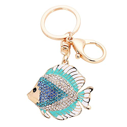 Rurah Keyring Keychain Keytag Fashion Tropical Fish Shape Keychain Handbag Pendant Car Keyring for Women Lady Girls Decoration,Blue