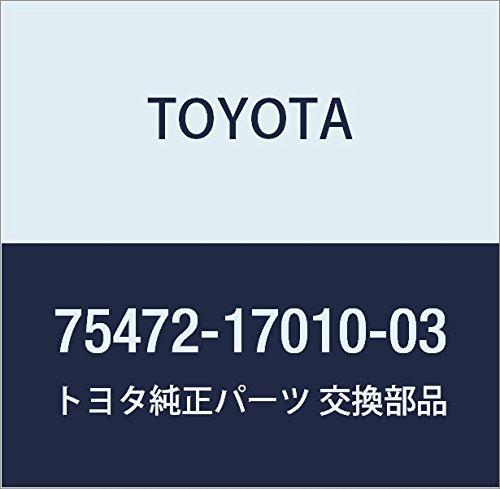 TOYOTA 75472-17010-03 Name Plate