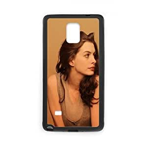 Celebrities Anne Hathaway Portrait Samsung Galaxy Note 4 Cell Phone Case Black Delicate gift AVS_593636