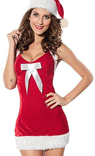 LESRANCE Black Friday Christmas Dress Backless Cute Bow-knot Sexy Bodysuits One Size (Jovi Elf Costume)