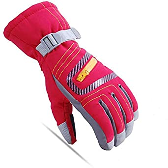 AngelicaAPCA Winter Warm Kids Ski Gloves Children Snowboard Gloves Waterproof Windproof, 1 Pair
