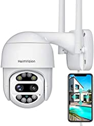 HeimVision HM612 PTZ Security Camera Outdoor, 2x2MP Ultra HD Dual Lens, Pan/Tilt/12X Zoom, 360° View, Wi-Fi Wi