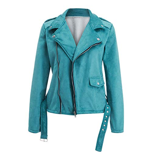 n Ladies Sashes Button Solid Zippers Jacket Coat Winter Outwear ()