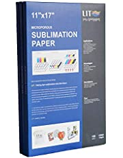 LIT Sublimation Paper 11x17 inch, 100 Sheets,110gsm - For any Inkjet Printers With Sublimation Inks