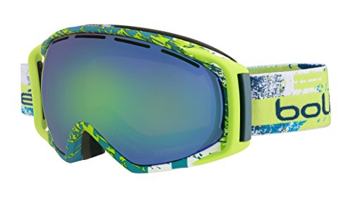 Bolle Yellow Lens (Bolle Gravity Goggles, Matte Lime, Green Emerald Lens)