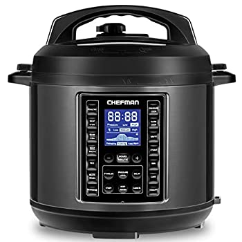 Image of Chefman 6 Qt Electric Multicooker, 9-In-1 Programmable Pressure Cooker, 14 Presets Multifunctional Slow-Cooker, Rice-Cooker/Steamer, Sauté, Yogurt, Soup/Broth Maker