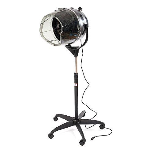 Professional Beauty Salon Equipment Hair Bonnet Dryer Adjustable Bonnet Stand Up Rolling Base Hair Dryer (Black) (Salon Standing Hair Dryer compare prices)