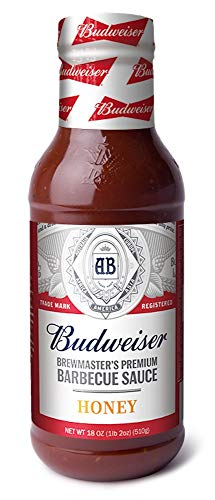 Budweiser Brewmaster's Premium Honey Barbecue Sauce, 18 Ounce Bottle