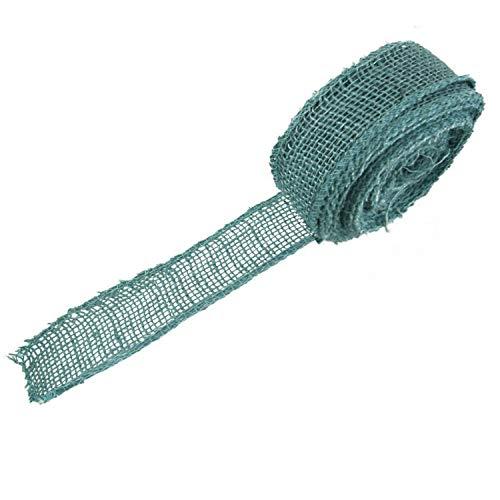 burlap fabric blue - 9