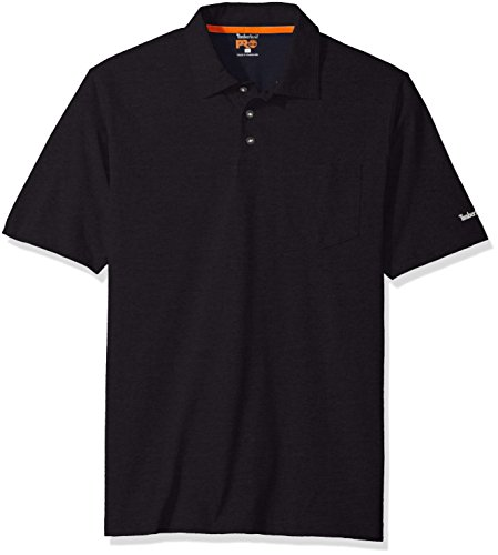 Timberland Pro Mens Base Plate Blended Short-Sleeve Polo Dark Navy