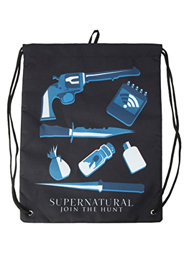 Supernatural Icons Cinch Back Sack (Natural Icon)