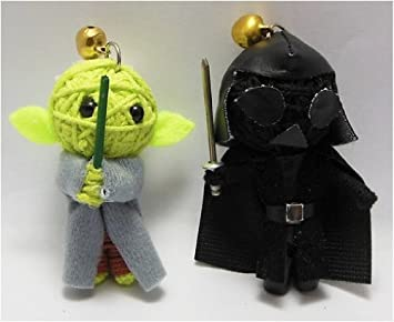Amazon.com: Yoda & Darth Vader Set Voodoo Cadena Llavero con ...