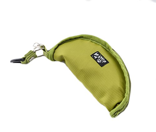 Dog Gone Dog Bowl - 2PET Foldable Bowl - Compact Dog Bowl, Lightweight - One Size Fits All - Travel Water or Food Collapsible Bowl Waterproof Nylon- Green