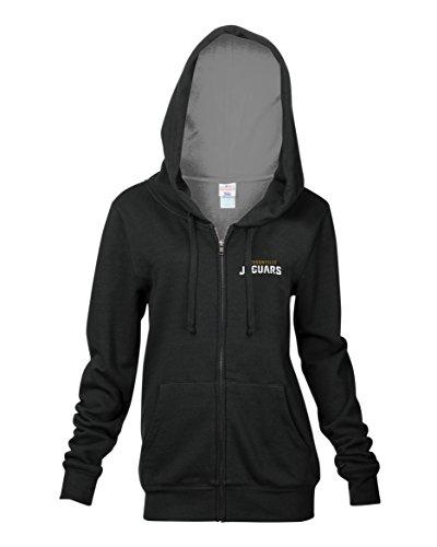 uars Women's Full Zip Fleece Hoodie with Pouch Pocket, Black, Large (Jaguar Womens Long Sleeve)