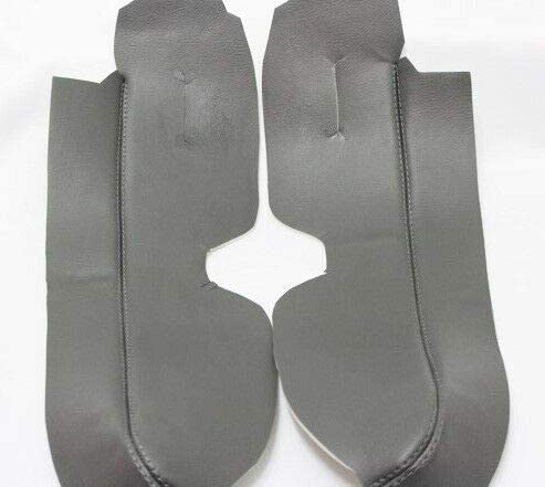 Fits 2007-2012 Honda CR-V Real Dark Gray Leather Front Door Panel Armrest Covers Skin Only