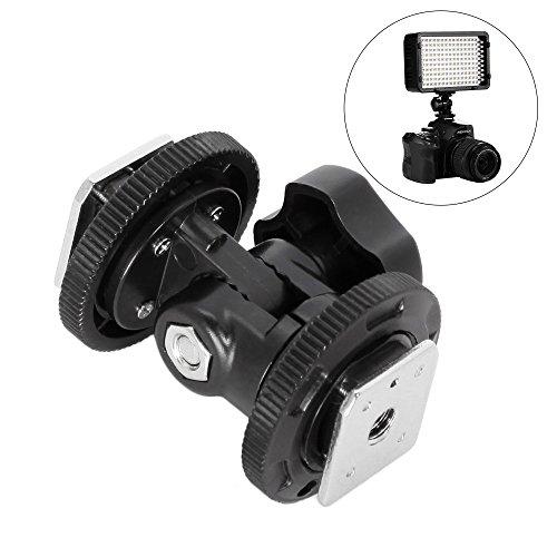 Mekingstudio Dual Hot Shoe Mount Adapter Holder Bracket for Video Light